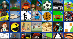play games using the school's internet